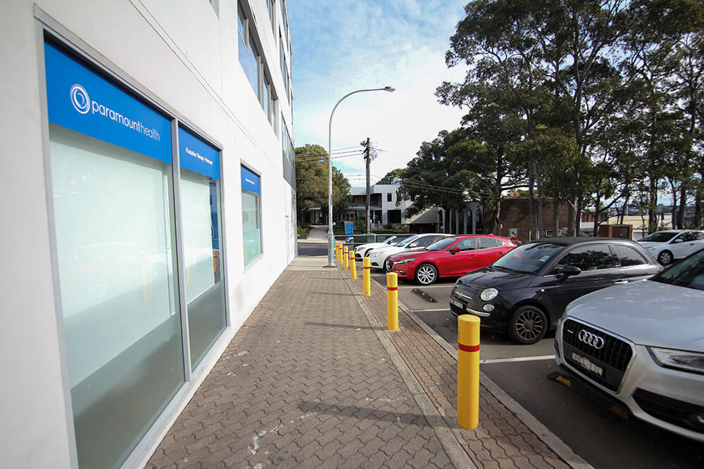 Innerwest Chiropractic clinic Parking Paramount Health